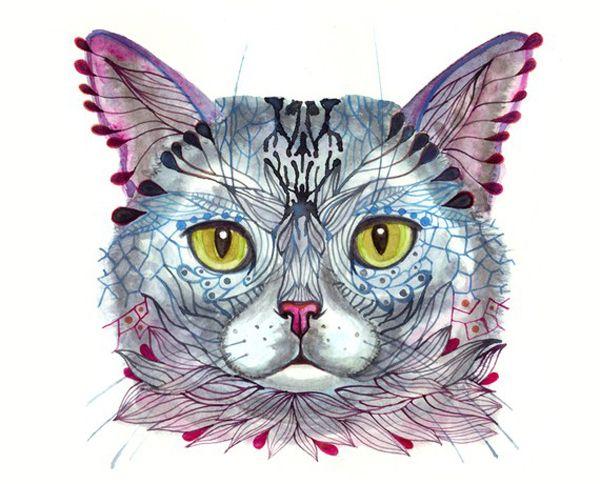 Art we heart: ola liola's gorgeous kitty illustrations
