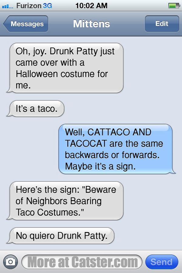 Texts from mittens: the halloween edition