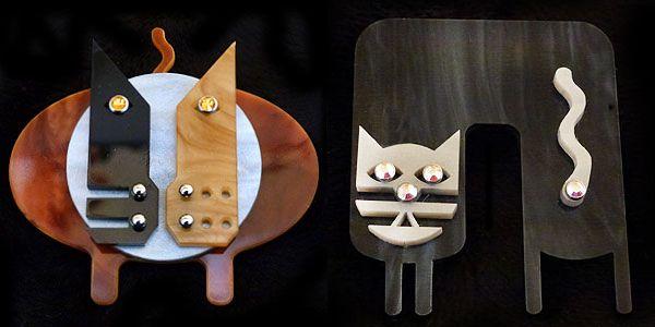 Di cosa siamo ossessionati: spille feline art déco di novodeco